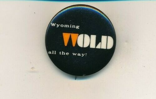 """1964 John Wold for US Senate 1 1/2"""" cello Wyoming WY campaign button"""