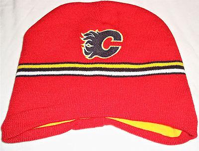 Calgary Flames Nhl Red Toque Winter Knit & Fleece Beanie Brand