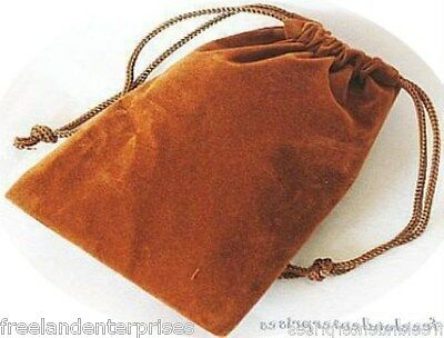 Jewelry Pouch Velourvelvet Type Pouch Lot Of 5 Goldcopper Color