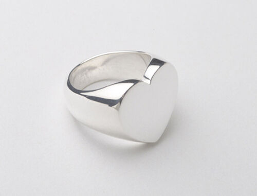 Dorfman Sterling Heart Signet Ring