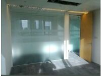 Glass Office Dividers - Wall Partitions - Thick 12mm Toughened Glass Panels
