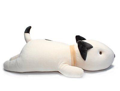 Vintoys Bull Terrier Dog Big Hugging Pillow Soft Plush Toy Stuffed Animals White
