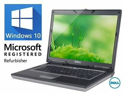 "DELL LATiTUDE D830 D820 C2D 15"" WINDOWS 10 WIN DVD WiFi COMPUTER HD PC"