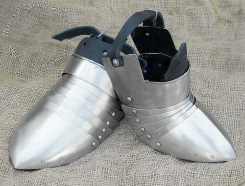 Steel Antique Medieval sabatons. Knights armor for shoes Handmade Halloween Gift