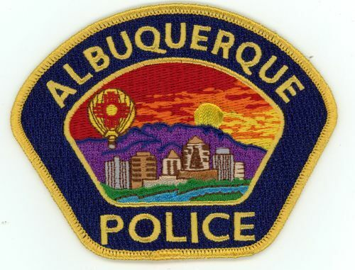 NEW MEXICO NM ALBUQUERQUE POLICE NICE PATCH SHERIFF BLUE WITH GOLD BORDER