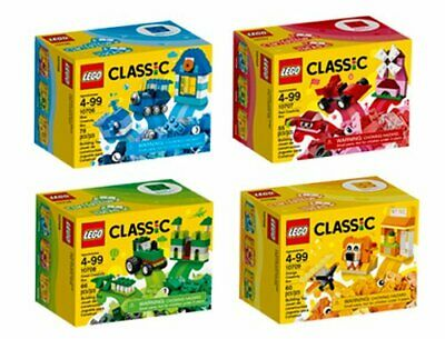 LEGO Classic Quad Pack 10706 Blue 10707 Red 10708 Green 10709 Orange ALL NEW
