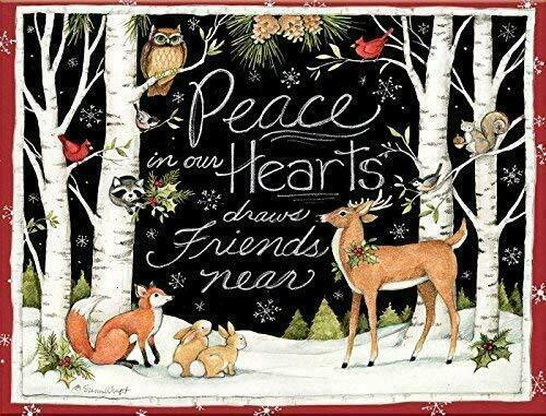 """LANG 1004777-""""Peace in Our Hearts"""",Boxed Cards Christmas,18 Cards,19 envelopes"""