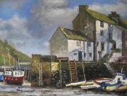 Oil Painting Harbour