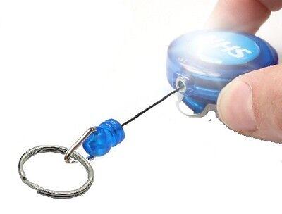 NHS YoYo Badge Reel Retractable Lanyard Holder with 20mm Split Ring for Keys etc