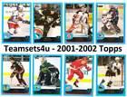 Topps 2001-02 Season Set Hockey Trading Cards