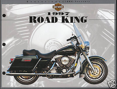 Harley Davidson Road King Specs (1997 HARLEY-DAVIDSON ROAD KING Motorcycle 8.5 X 11