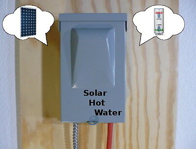 Solar Water Heater EZ DIY Save $$$ No Pipe Changes Hot Water System PV MPPT !