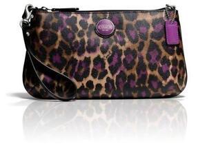 coach wristlet outlet store online d125  Coach Leopard Wristlets