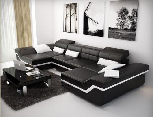 couchgarnitur leder sofas sessel ebay. Black Bedroom Furniture Sets. Home Design Ideas
