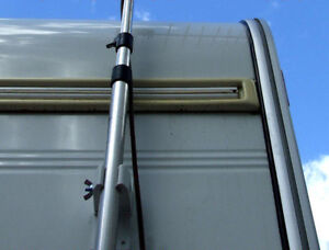 MAXVIEW TV AERIAL MAST POLE CLAMPS FOR CARAVAN MOTORHOME BOAT VW CAMPER RV RADIO