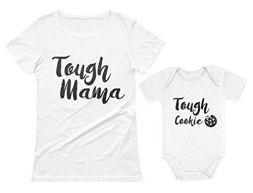Tough Mama Tough Cookie Mother & Son Daughter Matching Set Mom & Baby Shirts
