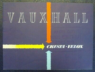 VAUXHALL VELOX + CRESTA CAR SALES BROCHURE (FRENCH TEXT) AUGUST 1956.