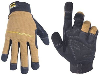 Gloves Work Flex Grip Custom Large Leathercraft Handyman Flexgrip Clc Synthetic
