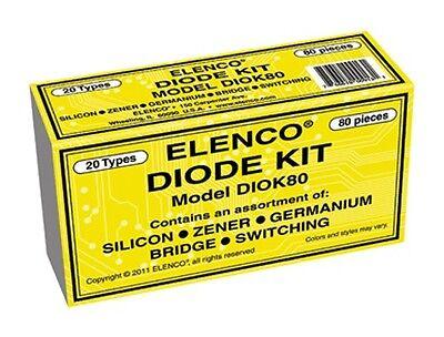 Elenco Diok-80 Piece Diode Kit New