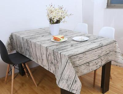 Wood Grain Table Cloth Cotton Linen Tablecloth For Table Rec