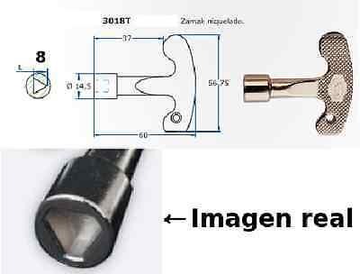 LLAVE TRIANGULAR 8 mm CANAL.ARMARIOS ELECTRICOS CONTADORES ASCENSORES triangulo
