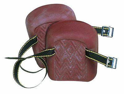 Custom Leathercraft 317 Molded Natural Rubber Kneepads Single Strap