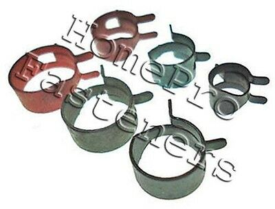 FOR CHEVY PINCH SPRING FUEL VACUUM TRANSMISSION RUBBER HOSE CLAMPS 50p FREE SHIP