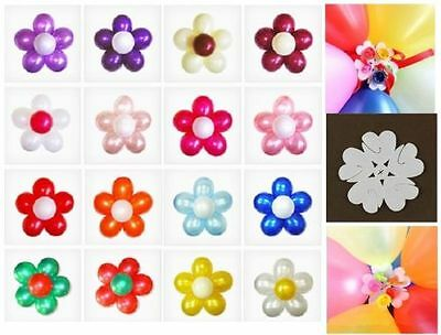 1-25 pcs Latex Balloon Arch Stand Connectors Clip Flower Shape Sealed - Flower Balloons