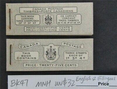 nystamps Canada Stamp # BK47 Mint OG NH UN$32 English & Bilingual   L16y3180