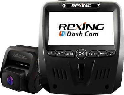 Rexing V1LG Dual Channel Car Dash Cam FHD 1080p 170° Wide Angle Dashboard Camera