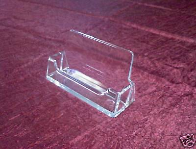 Two 2 Clear Plastic Business Card Displays