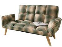 New SleepDesign Melrose 2 Seater Tartan Sofa Bed 2 Cushions RRP 249.99