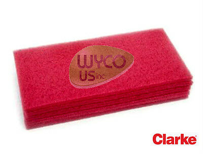 Floor Pads 5 Ct14x20 Oem Clarke Focus Ii S20 L20 Boost 20 Scrubbers Red