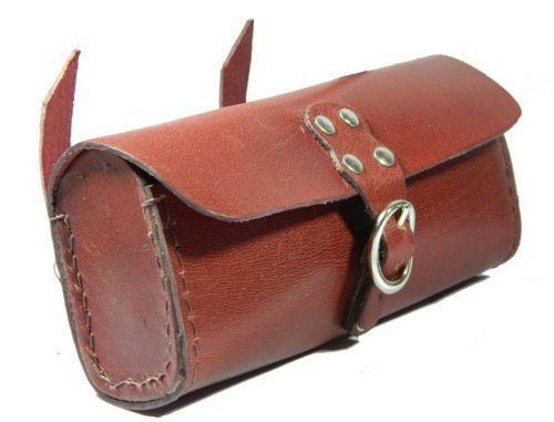 Bicycle Tool Bag : Leather bicycle tool bag ebay