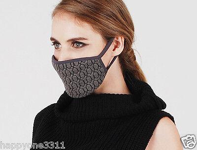 Kekki Maskitsch Design Warm Ivory Twine Knit Pattern Face Mask K-pop Style Korea