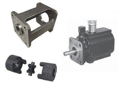 Hydraulic 8 Gpm Hi Lo Two 2 Stage Log Splitter Pump Bracket Couplers Kit New