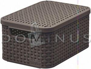 98588 CURVER Aufbewahrungsbox Ordnungsbox mit Deckel RATTAN-Style Dunkelbraun - <span itemprop='availableAtOrFrom'>Koszalin, Polska</span> - Zwroty są przyjmowane - Koszalin, Polska