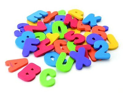 Kids Alphabet Bath Toys Floating Letters and Numbers Alphabet Foam 36 Count