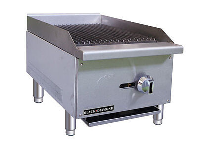 Black Diamond Commercial Restaurant 16 Gas Char-broiler 30000 Btu Bdectc-16ng