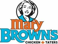 Assistant Manager - Mary Brown's Freshwater Rd