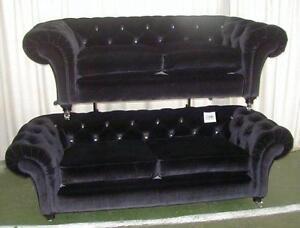 Large Velvet Sofa