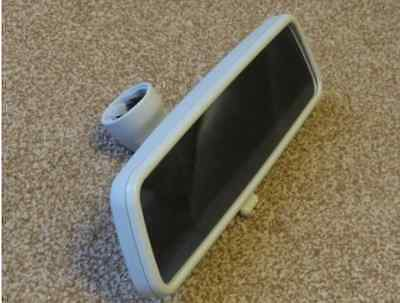 GENUINE VW VOLKSWAGEN Grey REAR VIEW MIRROR FITS VW T5 T6 TRANSPORTER OR CAMPER