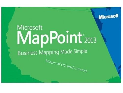 Microsoft MapPoint 2013 North America - powerful Mapping and Location - 4 PC's