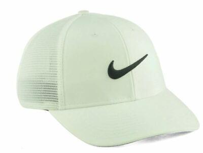 NIKE GOLF STRETCH FIT WHITE & BLACK HAT CAP SIZE L/XL SHIPS IN BOX!