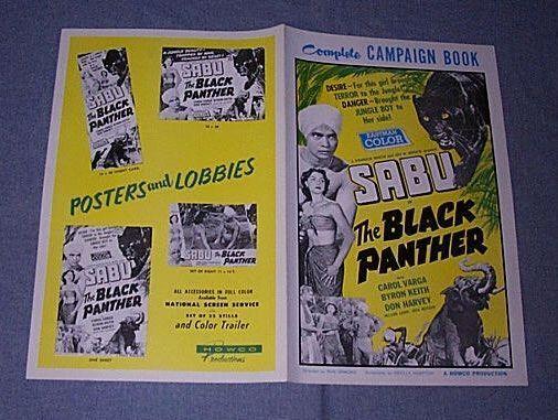 Original 1956 SABU BLACK PANTHER Pressbook CAROL VARGA Bryon Kieth DON HARVEY