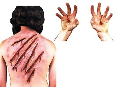 WHIP SPIKE SCARS FAKE WOUND CUT LATEX JESUS PROSTHETICS CRUCIFIXION MAKEUP