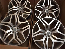 """SET OF 4 22"""" INCH 5X120 ALLOY WHEELS RIMS IN SILVER FITS RANGE ROVER SPORT, VOGUE AND DISCOVERY"""
