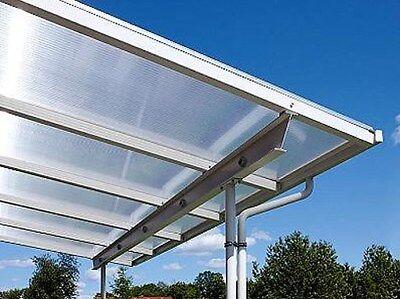 Überdachung Bausatz Terrasse 7x5m Stegplatten und Profile für Unterkonstruktion