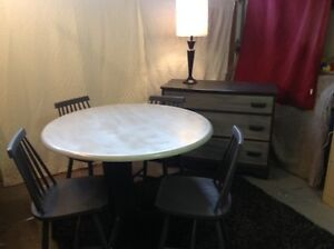 NEW PRICE Solid Wood Dining Table and Four Chairs