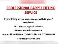 Carpet fitting service